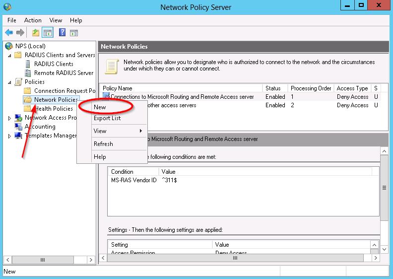 HP Networking: Window's RADIUS Server - Network Policy