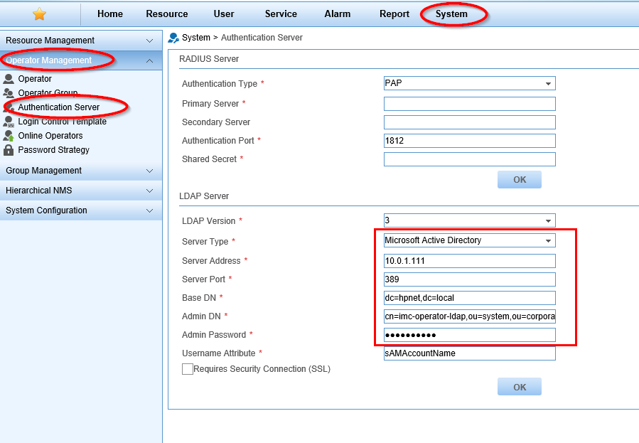 IMC Operator authentication with LDAP over SSL | About Aruba Networks